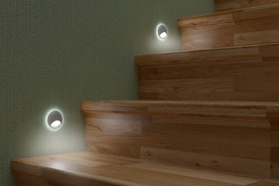 светильник круглый подсветка ступеней