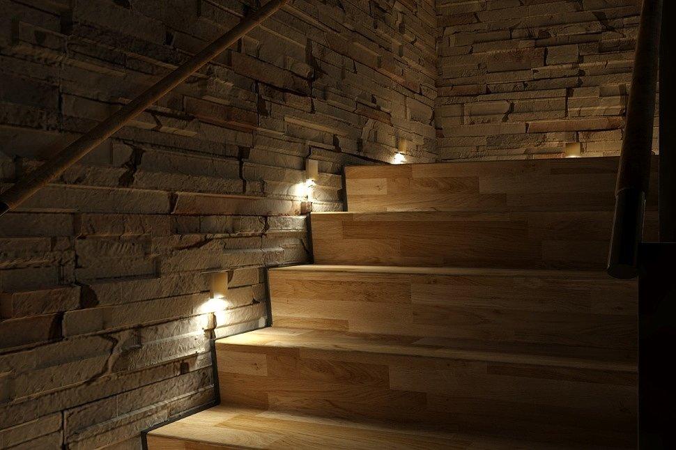 светильник для подсветки ступеней лестницы