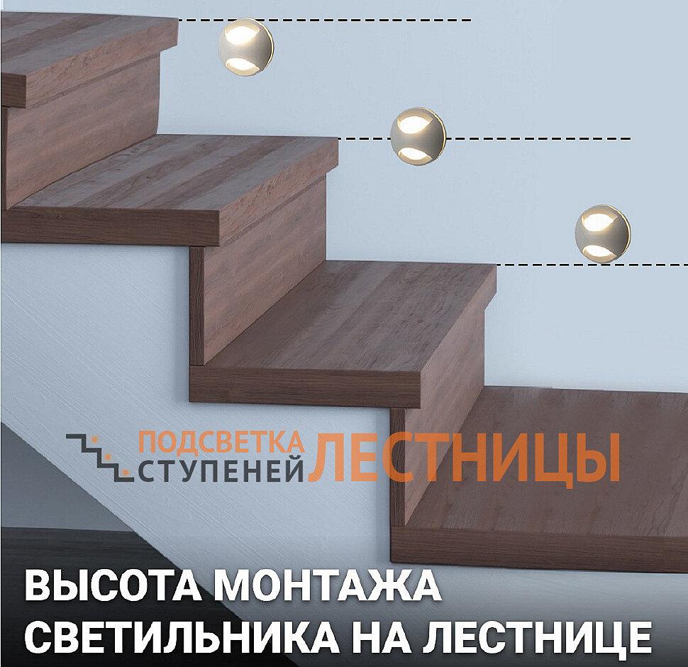 Высота монтажа светильника на лестнице