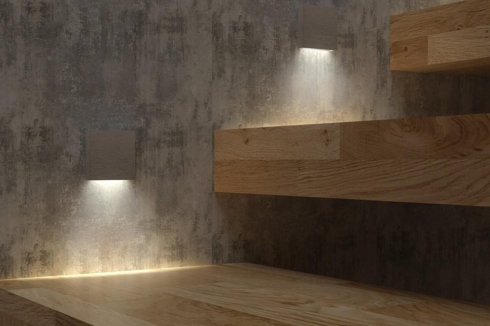 Квадратные светильники для лестницы