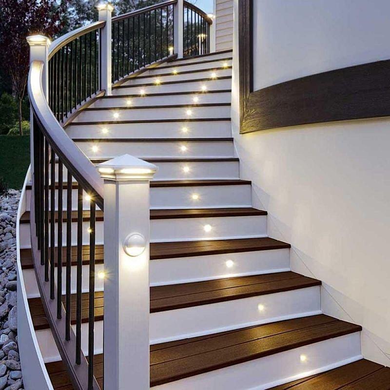 Точечные светильники для лестницы