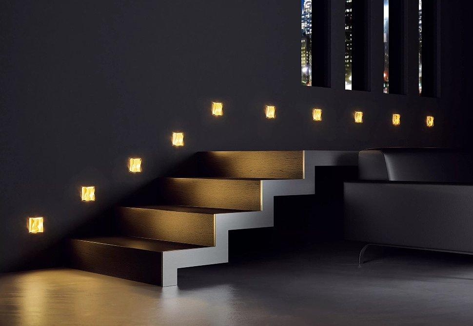 Светильники в стену для лестницы