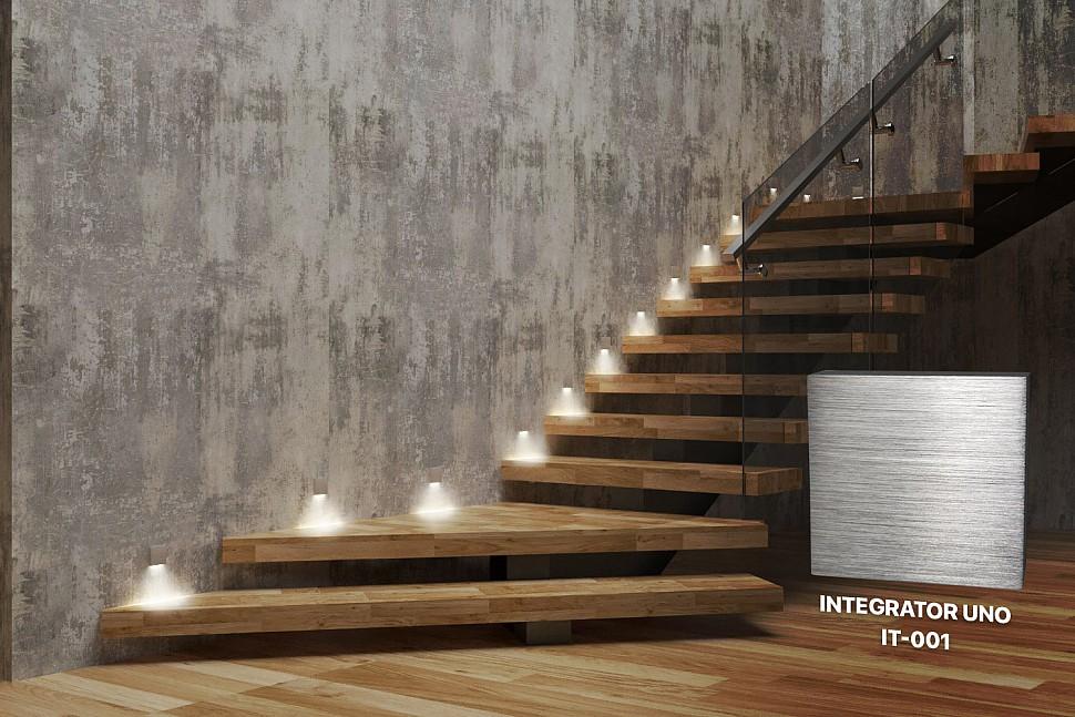 Integrator Uno IT-001 квадратный светильник для лестницы
