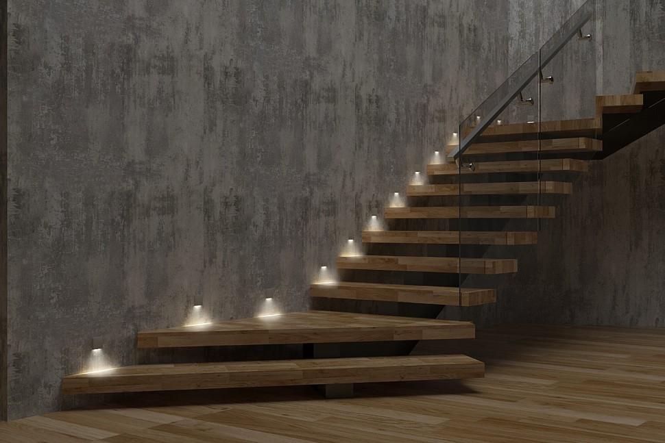 Автоматическая система подсветки лестницы