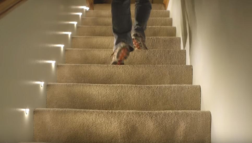 Автоматическая подсветка лестницы с датчиком движения