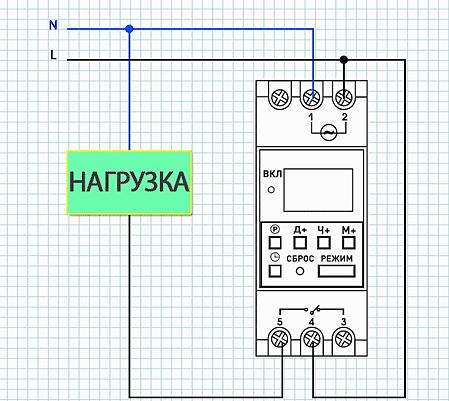 Монтаж лестничного таймера к сети