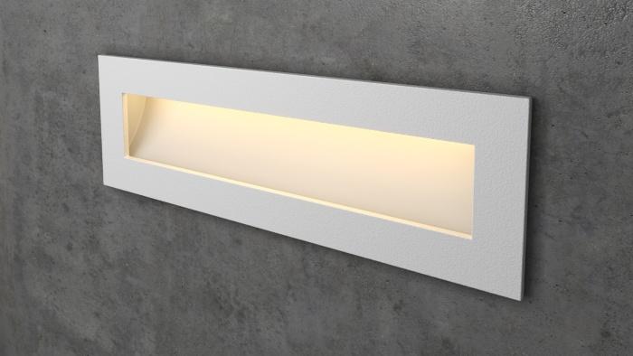 Прямоугольный белый светильник на лестницу Integrator IT-772-White