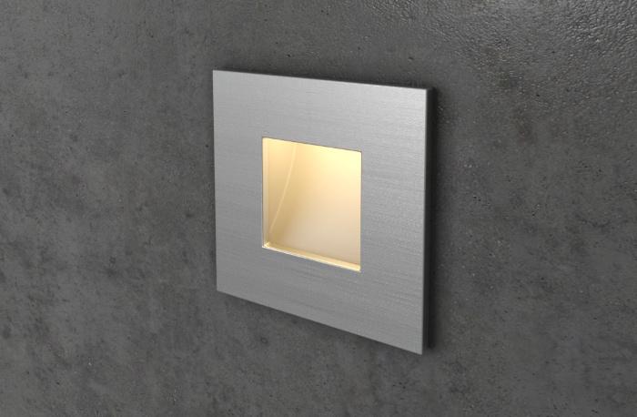 Алюминиевый квадратный светильник на лестницу Integrator IT-763-Alum