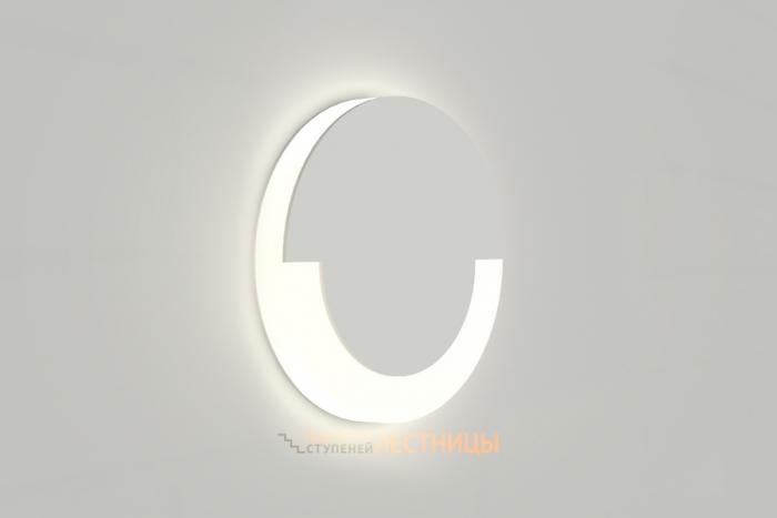 Круглый светодиодный встраиваемый светильник для подсветки ступеней белый Integrator Stairs Light IT-739-WW-White