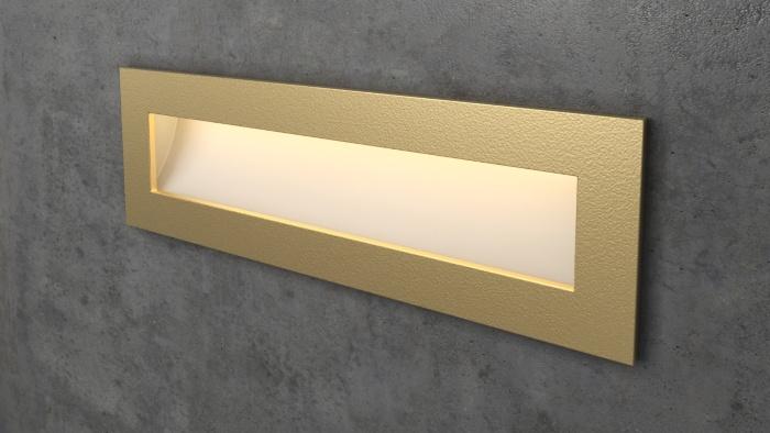 Прямоугольный золотой светильник на лестницу Integrator IT-772-Gold